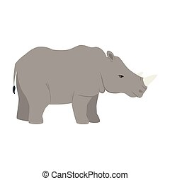carattere, rinoceronte, animale africano, selvatico