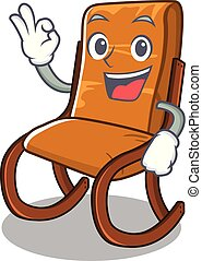 carattere, sedia, oscillante, approvazione, isolato
