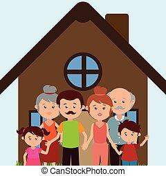 caratteri, casa, membri famiglia