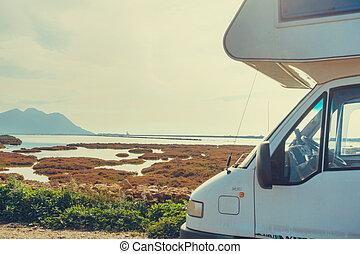 Caravan in Cabo de Gata, Spain