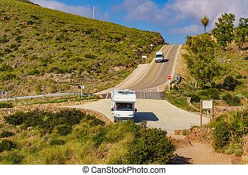 Caravan in Park Cabo de Gata, Spain