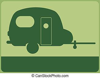 Caravan sign