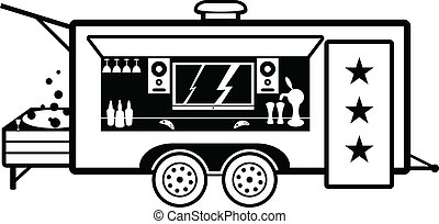 Caravan Trailer - Coat of arms of the mobile home. Logo for...