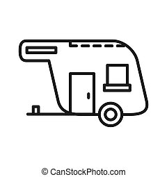 caravan vector illustration design