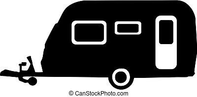 caravana, ícone