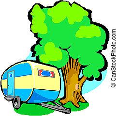 caravana, ilustração