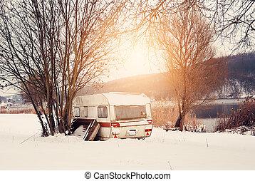 caravana, inverno