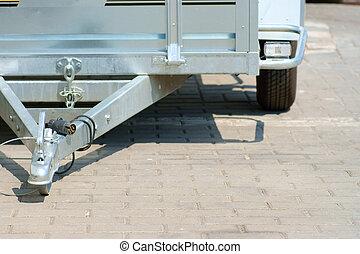 caravane, barre remorquage