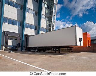 caravanes, distribution, concept, exportation, centre