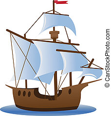 Caravel. Sailing ship