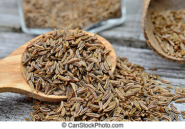 caraway seed on table