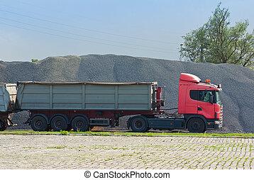 carbón, camión