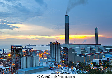 carbón, estación, potencia