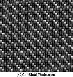 carbón, fibra, tejido, textura
