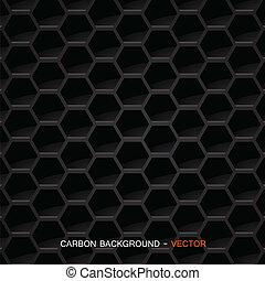 carbón, material, vector, -, fibra