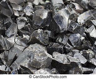 carbón, primer plano