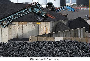carbón, procesamiento, facilidad