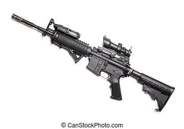 carbine, magazin, kívül, m4a1