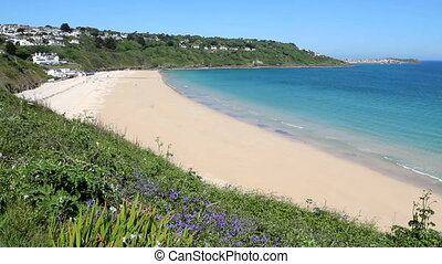 Carbis Bay sandy beach in Cornwall