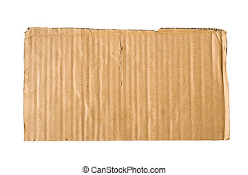 Carboard, isolated, clipping path.