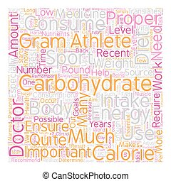 Carbohydrates the Essential Energy Source text background...