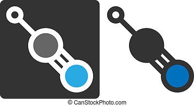(carbon, círculos, Mostrar, azul,  cyanide, plano,  -,  color-coded,  grey/white),  prussic, Átomos,  acid), gris, Veneno, molécula, pequeño,  (hcn, nitrógeno, Hidrógeno, estilo, icono