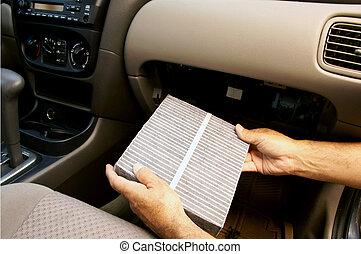 Carbon car cabin filter