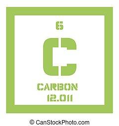Periodic table element carbon icon periodic table element carbon carbon chemical element urtaz Gallery
