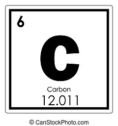 Carbon chemical element graphite and diamond colored icon stock carbon chemical element carbon chemical element periodic table science symbol urtaz Gallery