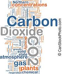 Carbon dioxide background concept