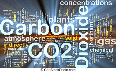 Background concept illustration of carbon dioxide co2 gas glowing light