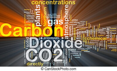 Carbon dioxide background concept glowing