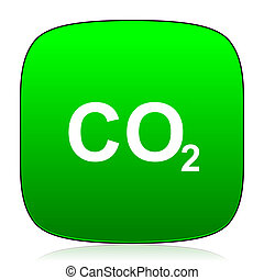 carbon dioxide green icon