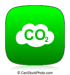 carbon dioxide green icon