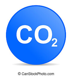 carbon dioxide internet blue icon
