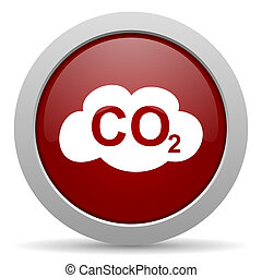 carbon dioxide red glossy web icon