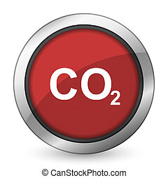 carbon dioxide red icon co2 sign