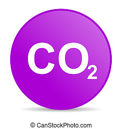 carbon dioxide web icon