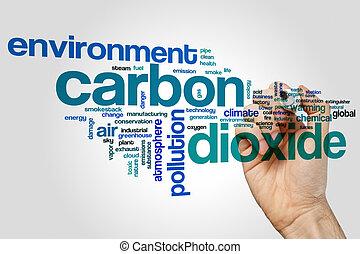 Carbon dioxide word cloud