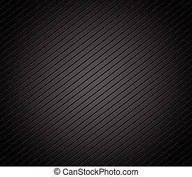 Carbon fiber background with parallel, slanting lines. Dark,...