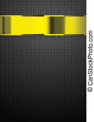 Carbon fiber gold template