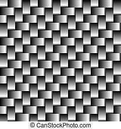 Carbon fiber seamless pattern. Abstract background