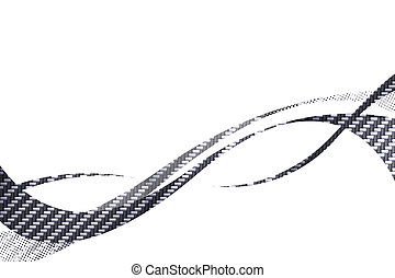 Carbon Fiber Swooshes - Carbon fiber flowing curves layout...