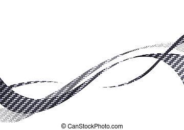 Carbon Fiber Swooshes - Carbon fiber flowing curves layout...