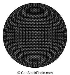 Carbon Fiber Textured Button