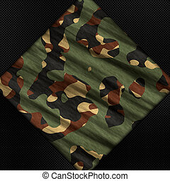 Carbon fibre and camouflage background - Carbon fibre and...