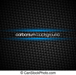 Carbon fibre background with dark tones and blue light glow...