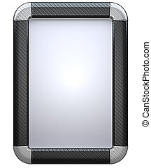 Carbon fibre lightbox isolated on the white background