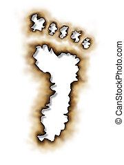 Carbon Footprint - Carbon footprint or conservation symbol...