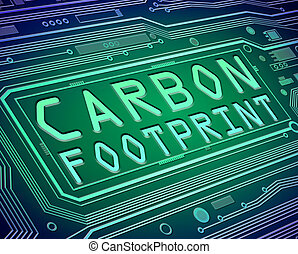 Carbon footprint concept.